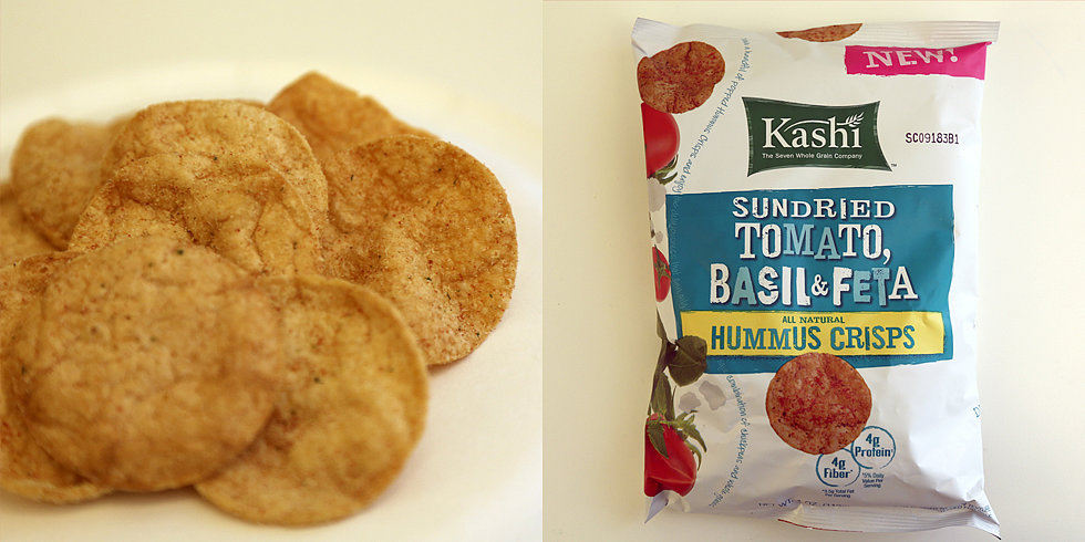 Pizza Fans: Try Kashi's Sundried Tomato, Basil, and Feta Hummus Crisps
