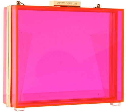 Juicy Couture - Lucite Minaudiere (Neon Pink) - Bags and Luggage