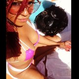 Christina Milian showed off her bikini body while hanging poolside in Vegas. Source: Instagram user christinamilian