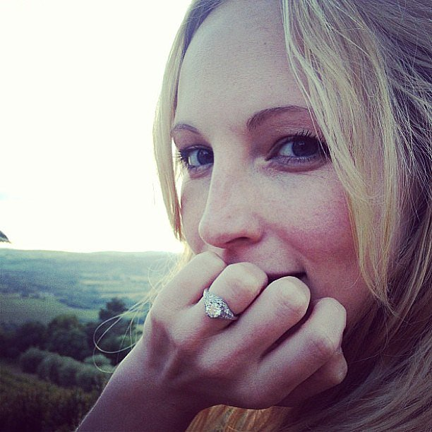 Candice Accola showcased her shiny new engagement ring. Source: Instagram user candiceaccola