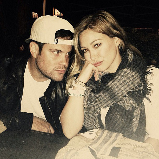Hilary Duff shared a funny photo of herself with her husband, Mike Comrie. Source: Instagram user hilaryduff
