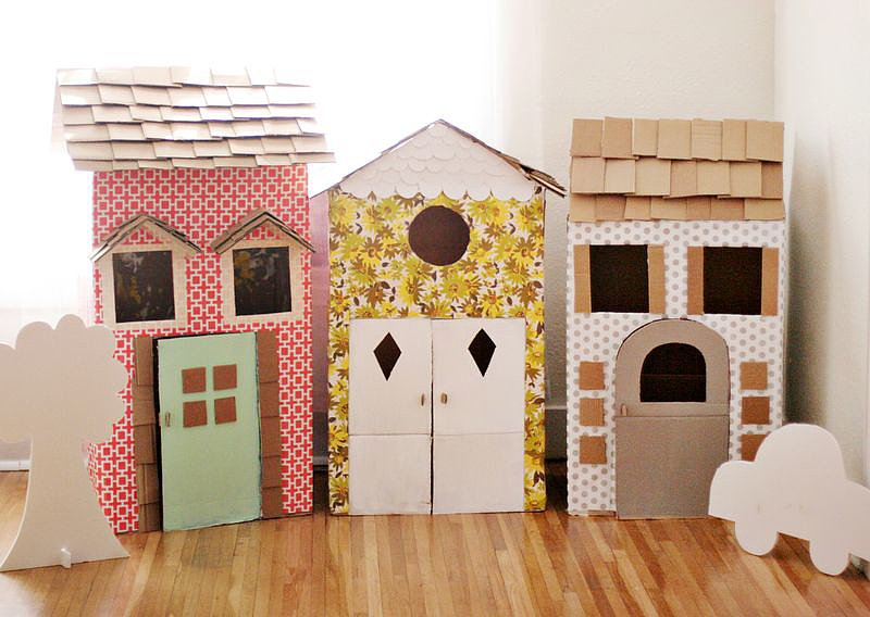 Cardboard Box Playhouses
