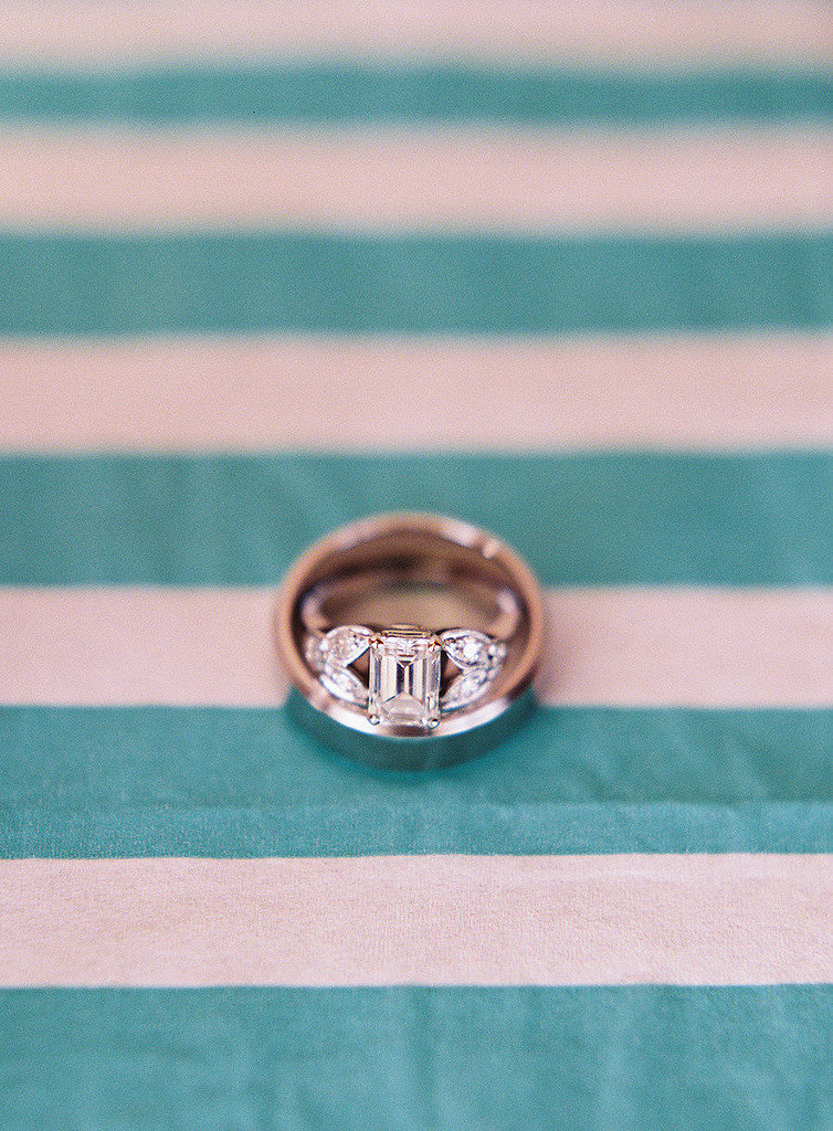 Chile: His and Her Rings For Chilean couples, engagement rings aren't just for the gals. In fact, both the bride and groom wear rings on their right hands until the ceremony, then switch them to the left hands. Photo by Jessica Lorren via Style Me Pretty