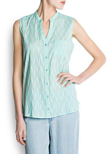 Textured cotton blouse