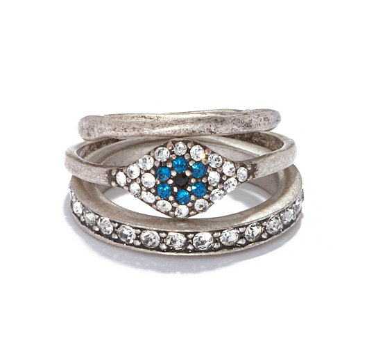 The most glamorous way to wear the evil eye might just be with this Rachel Roy Evil Eye stacked r
