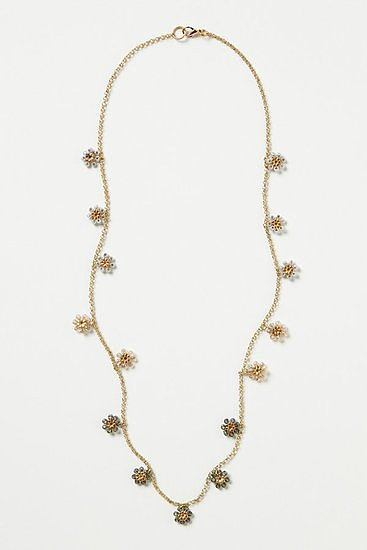 This Dancing Daisies stand necklace ($38) feels feminine and dainty — and perfect for dressing up your look on a hot Summer day.