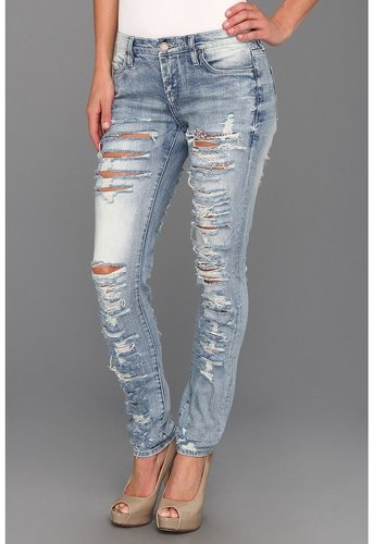 Blank NYC - The Skinny Classique Ripped Jean in Riot (Riot) - Apparel