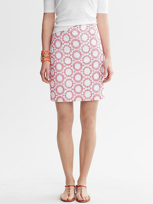 This Circle Embroidered Skirt ($90) could sweeten your office ensemble with its ladylike silhouette and ultrafemme detail, but don't just reserve it for your work wardrobe — add a white tee and your favorite sandals, and it's ideal for off-duty hours, too.