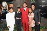Will Smith and Jaden Smith had the support of their family Jada Pinkett Smith, Willow Smith, and Trey Smith at the After Earth premiere in NYC.