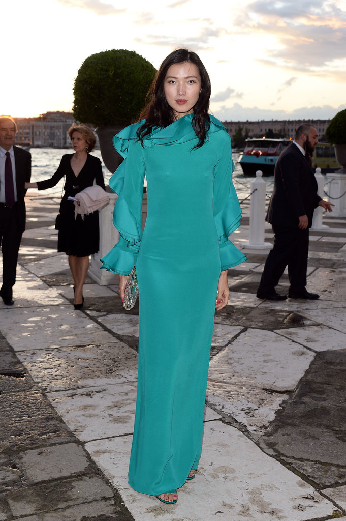 Xin Li at the Fondazione Cini, Isola Di San Giorgio dinner party in Venice, Italy.