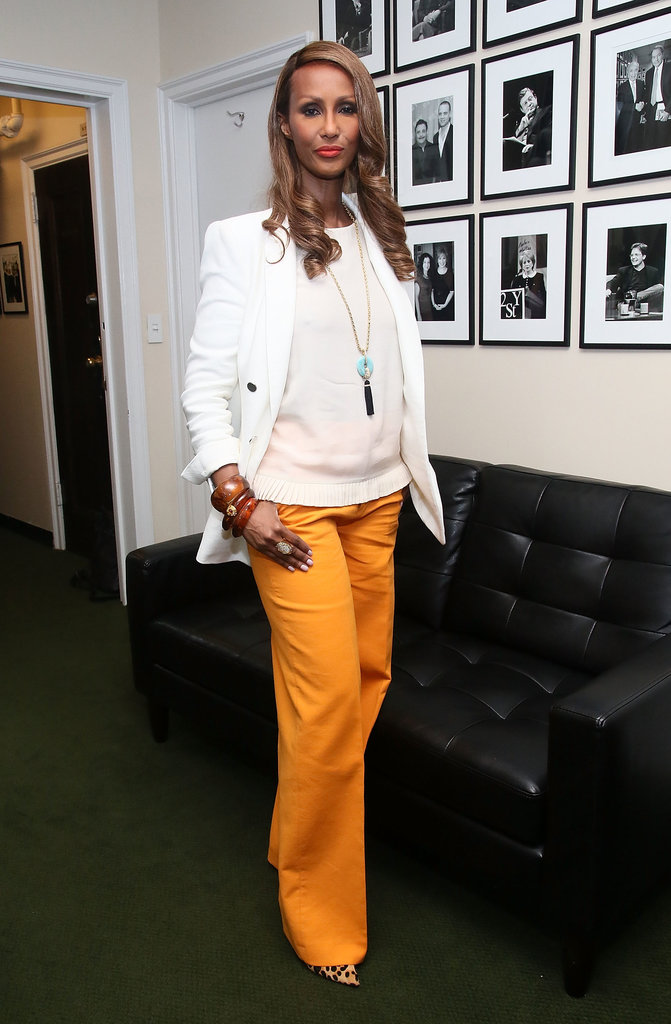 "Iman at the Glamour ""Secrets of Start-Up Queens"" panel in New York City."