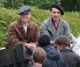 Matt Damon shot scenes with a costar for The Monuments Men in Buckinghamshire, England.