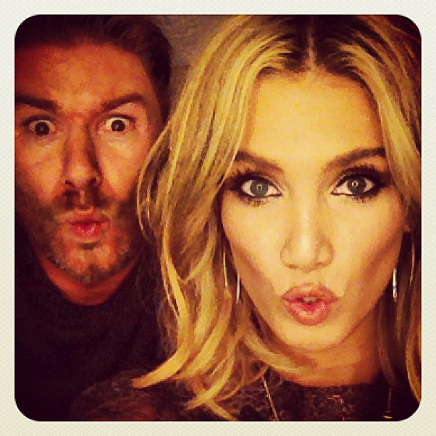 Delta Goodrem pouted for a close-up selfie. Source: Instagram user deltagoodrem