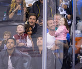 David Beckham kept a close hold on his daughter Harper while at an LA Kings game with his wife, Victoria, their three sons and Tom and Connor Cruise on May 29. David and Harper's kiss-cam video moment might be the cutest thing we ever did see.
