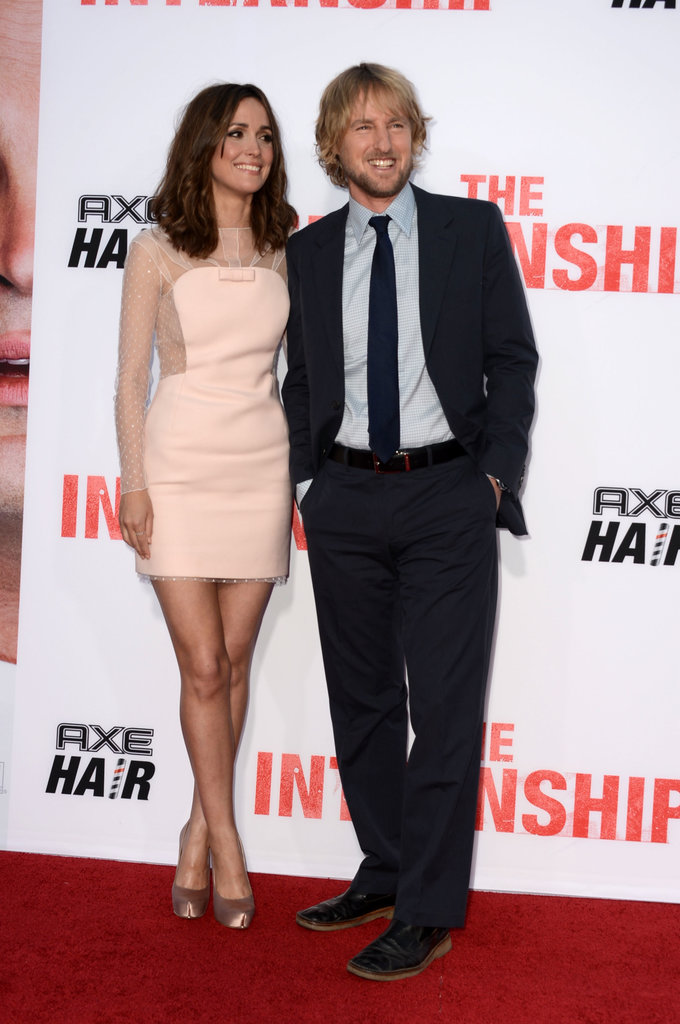 Rose Byrne and Owen Wilson posed side-by-side at the premiere of their new film, The Internship, in LA on May 30.