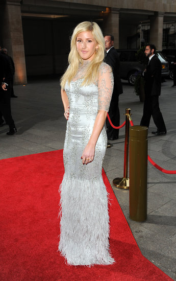Ellie Goulding wore a silver frock to the special dinner.