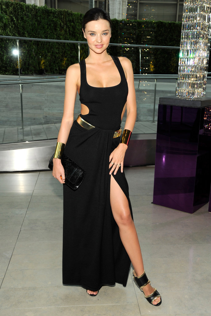 Miranda Kerr sizzled in a black Michael Kors gown back in 2011.