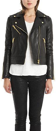 Rag & Bone Bowery Convertible Leather Jacket