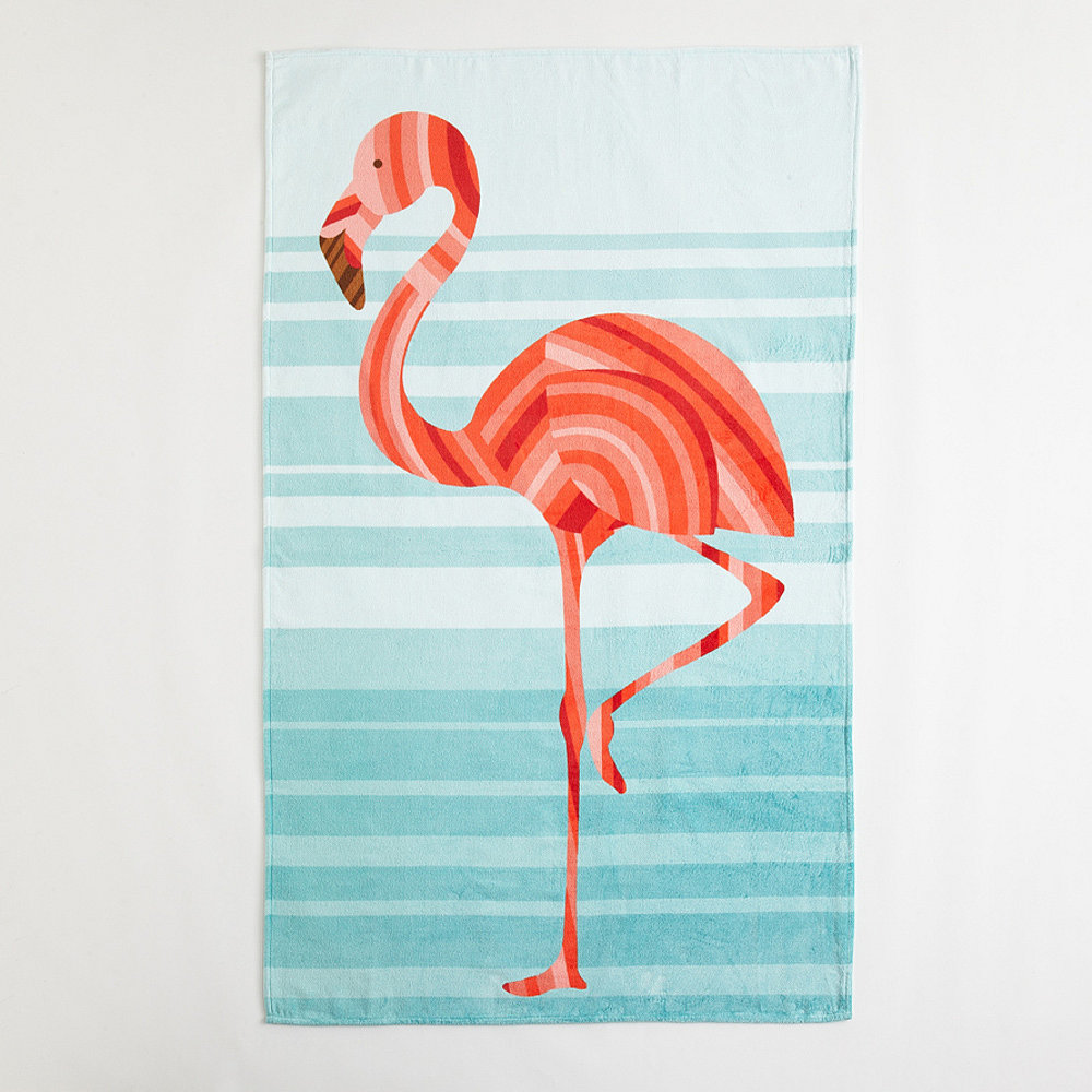 All of Tide & Pool's generously sized beach towels ($90) are brightly colored and double-sided, but it's the one featuring a flamingo named Slim that will have you wishing every day was a beach day. — MJ