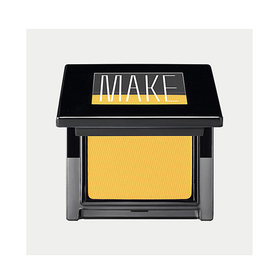 Summer is prime time to test drive some bold shadow hues, so why not go for broke? Make Matte Finish Eye Shadow ($18) is fluorescent yellow and heavily pigmented, making it the perfect accent color for your summery eye look. — Maria Del Russo