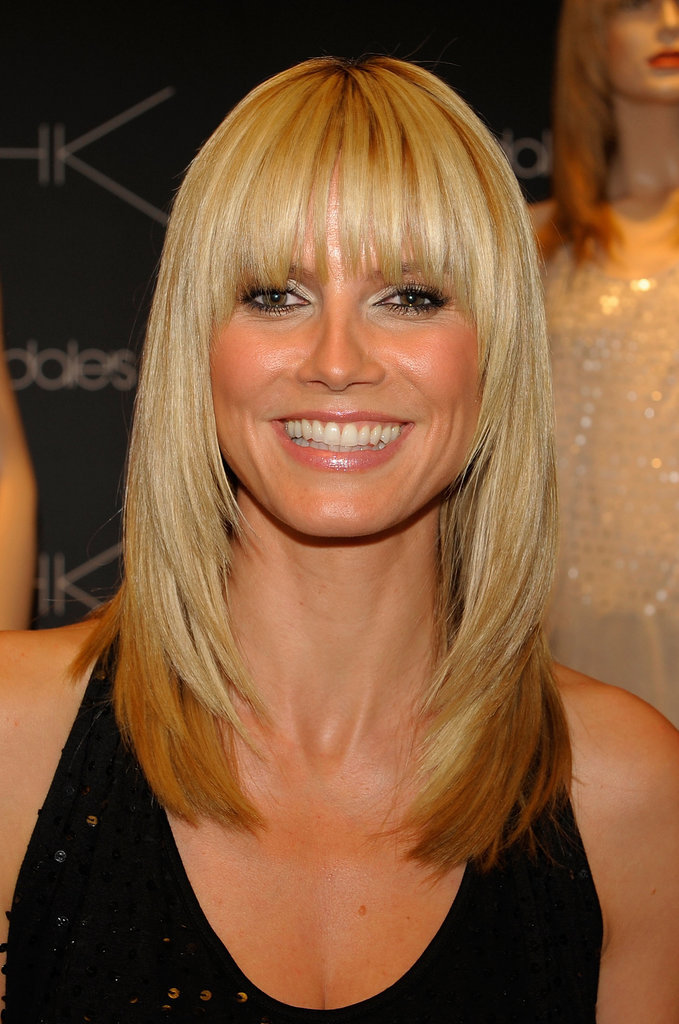 The German model sported blunt bangs back in 2006.