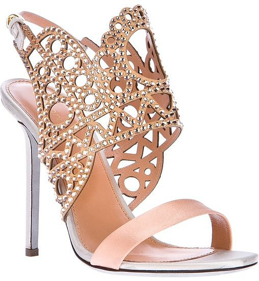 If you want your feet to get as much attention as your gown, then you must slip them into these Sergio Rossi laser-cut sandals ($1,243). Imagine the stares they'll get when you lift your dress.