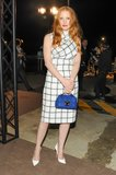 Jessica Chastain at Trussardi's celebration of the Venice Biennale. Source: Neil Rasmus/BFAnyc.com