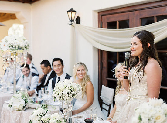 If you've been asked to stand up and say a few words at a wedding, don't fret. Just follow POPSUGAR Love & Sex's simple tips for making a toast without embarrassing yourself.