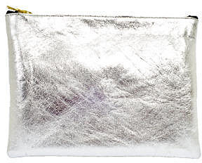 Sarah Baily Black & Silver Leather Mini Clutch from Boticca
