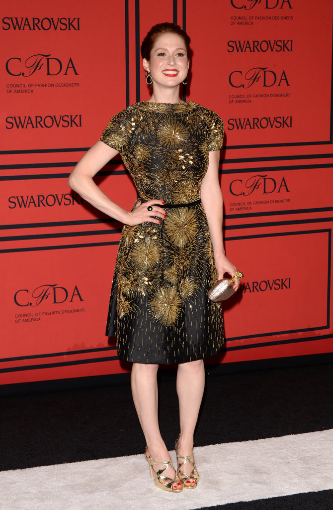 Ellie Kemper posed on the CFDA Fashion Awards red carpet.
