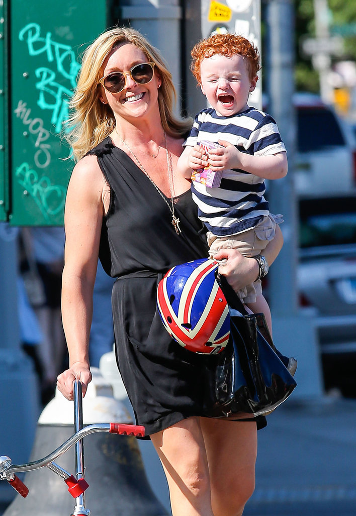 Jane Krakowski and her son, Bennett, went for a walk in NYC.