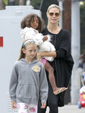 Heidi Klum kicked off her 40th birthday over breakfast with her children and boyfriend Martin Kristen.