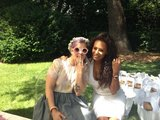 Melanie Brown shared a picture of herself and Kelly Osbourne at Kim Kardashian's baby shower. Source: Twitter user OfficialMelB