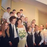 Harry Styles served as best man at his mom's wedding in England in June. Source: Instagram user gemmastagram