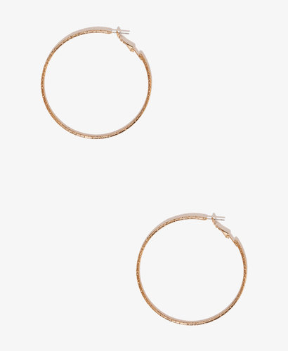 FOREVER 21 Large Etched Hoops