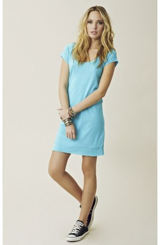 blue life T-Shirt Roll Hem Dress