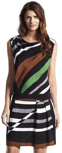 Derek lam for designation striped drop-waist dress