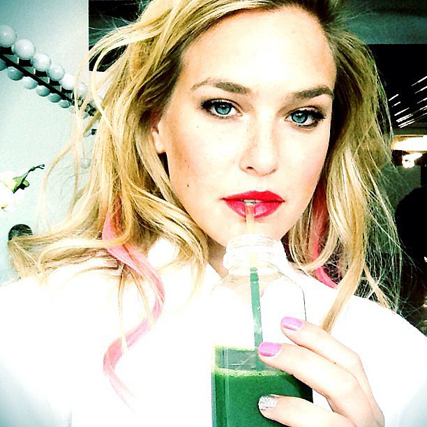 Bar went pretty in pink for a shoot with her hair, lips, and nails all sporting the ladylike shade.  Source: Instagram user barrefaeli