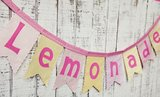 Fabric Lemonade Banner