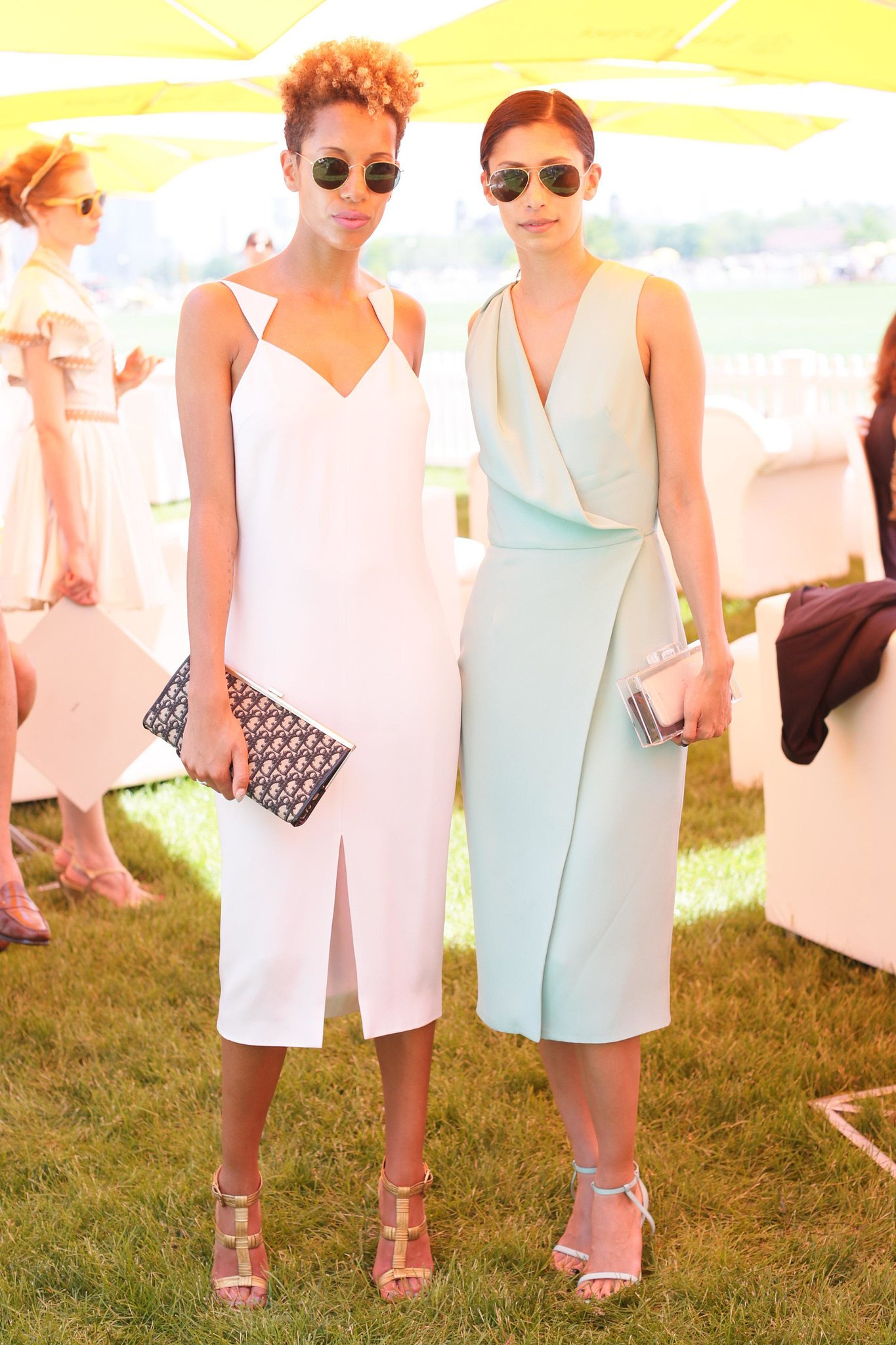 Cushnie et Ochs designer duo Carly Cushnie and Michelle Ochs at the sixth annual Veuve Clicquot Polo Classic in Jersey City, NJ. Source: David X Pruttin