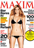 Bar Refaeli bared all in a tiny black bikini for the September 2012 cover of Maxim magazine.
