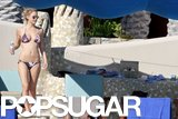 Bar Refaeli showed off her curves in a floral bikini in Cabo in December 2010.