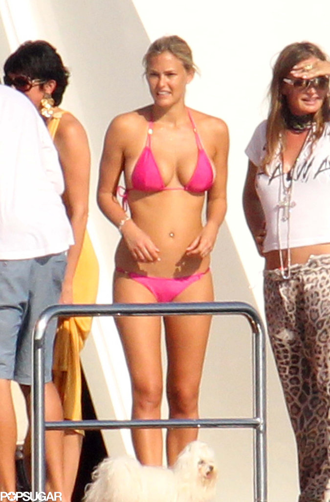She chilled on a yacht docked near Sardinia while vacationing in August 2010.