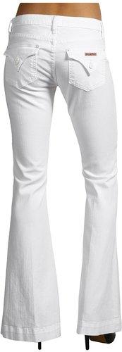 Hudson - Ferris Flap Pocket Flare in White (White) - Apparel