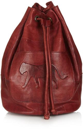 Embossed Leopard Backpack