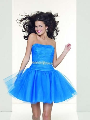 Stunning Simple style charm Tulle Strapless Prom Dress ML9050