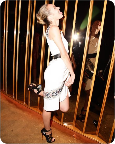 Candice Swanepoel laughed it up at Swarovski's official afterparty for the CFDA Awards in NYC. Source: Matteo Prandoni/BFAnyc.com