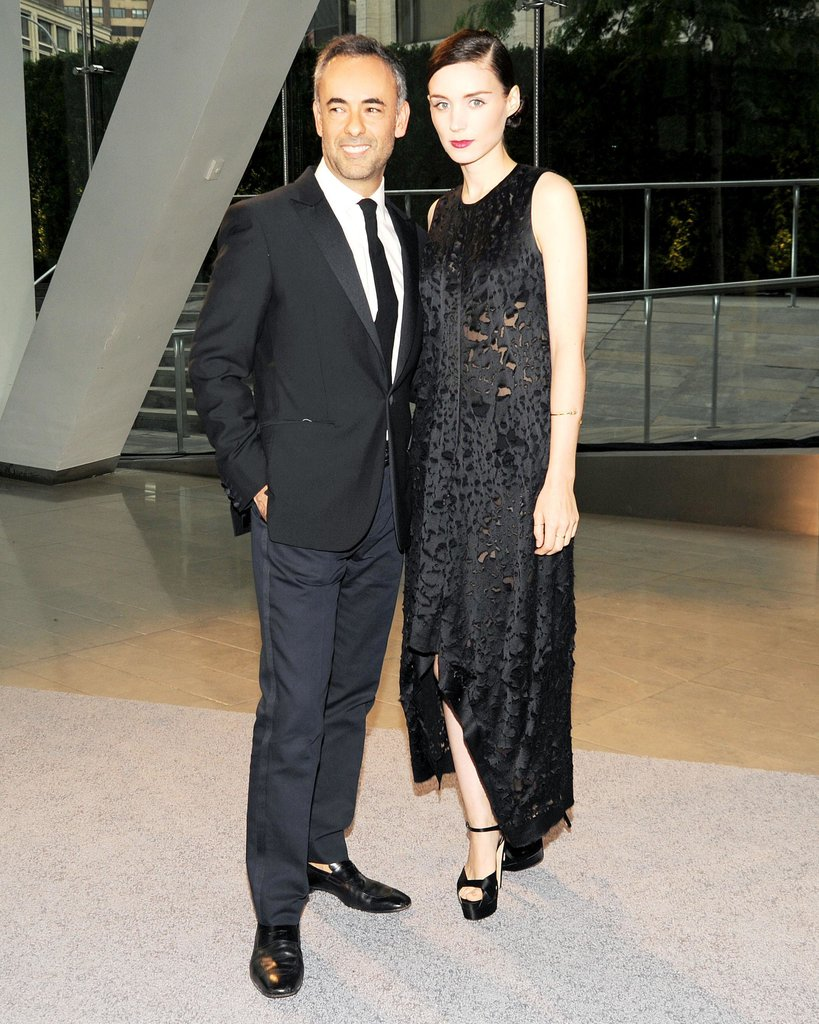 Francisco Costa and Rooney Mara at the 2013 CFDA Awards. Source: Billy Farrell/BFAnyc.com