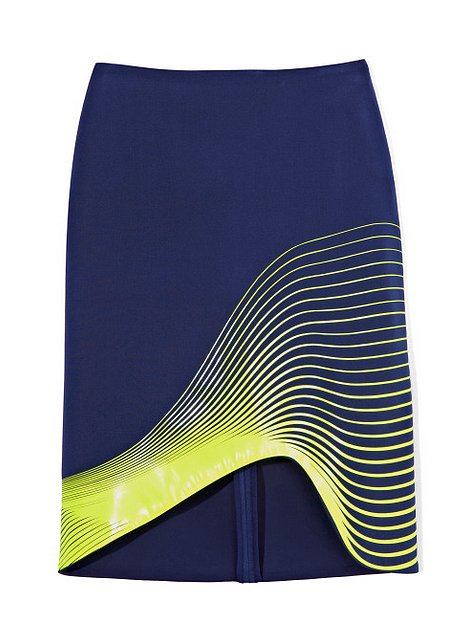 This neon-and-navy pencil skirt by Dion Lee ($490, originally $975) imprinted itself on our memory when we first caught a glimpse. Get it now on sale!
