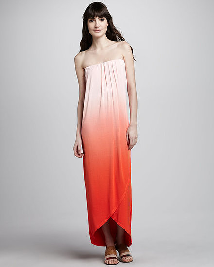 This Young Fabulous & Broke strapless ombré maxi dress ($202) is just dying to be taken to the sand. Leave your décolletage bare but go bold with a pair of statement earrings and sandals.